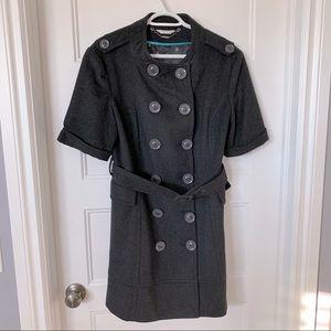 Short Sleeved Wool Coat